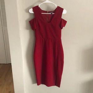 Lipstick Red Pencil Dress